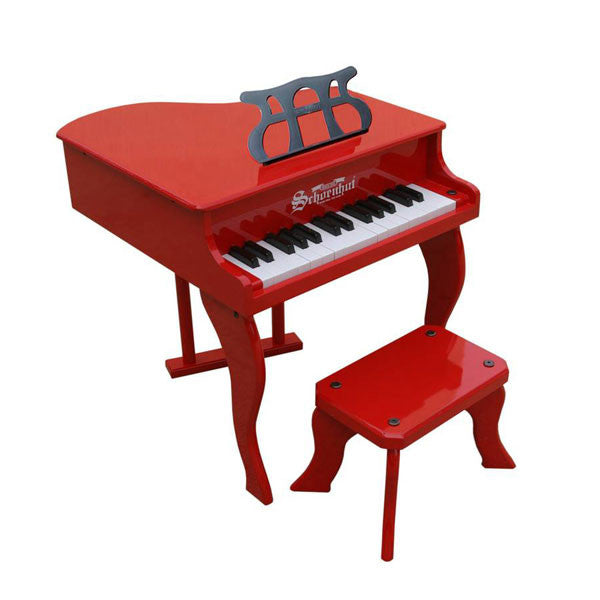 Red Fancy Baby Grand Piano - Pinkoz