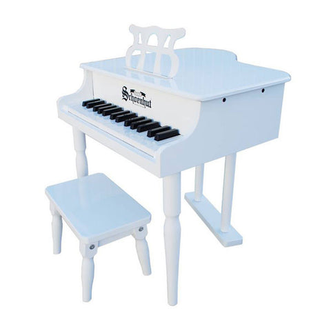 White Classic Baby Grand Piano - Pinkoz