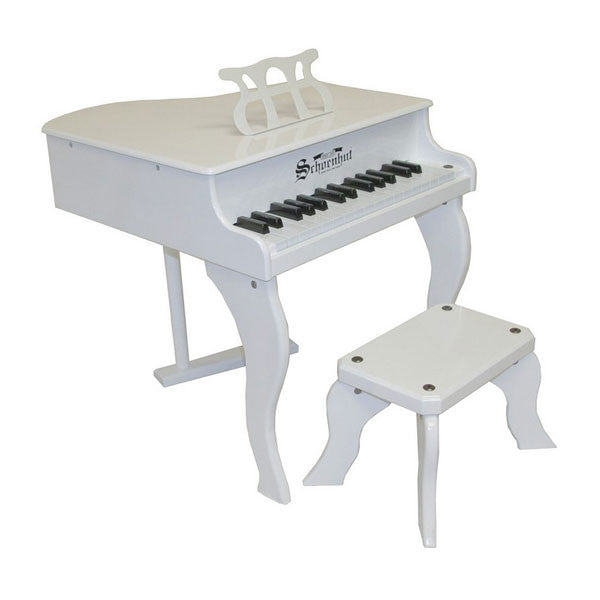 White Fancy Baby Grand Piano