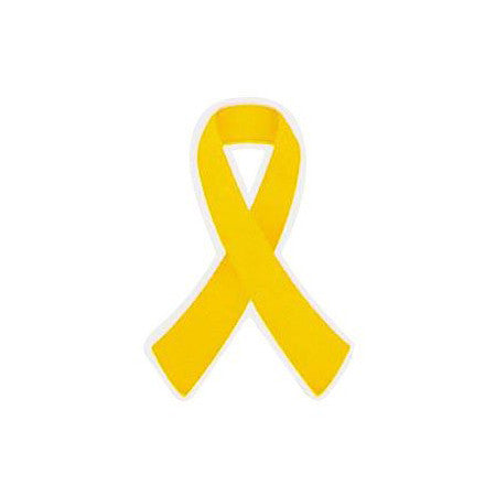 Yellow Ribbon Stickers 50 Pack
