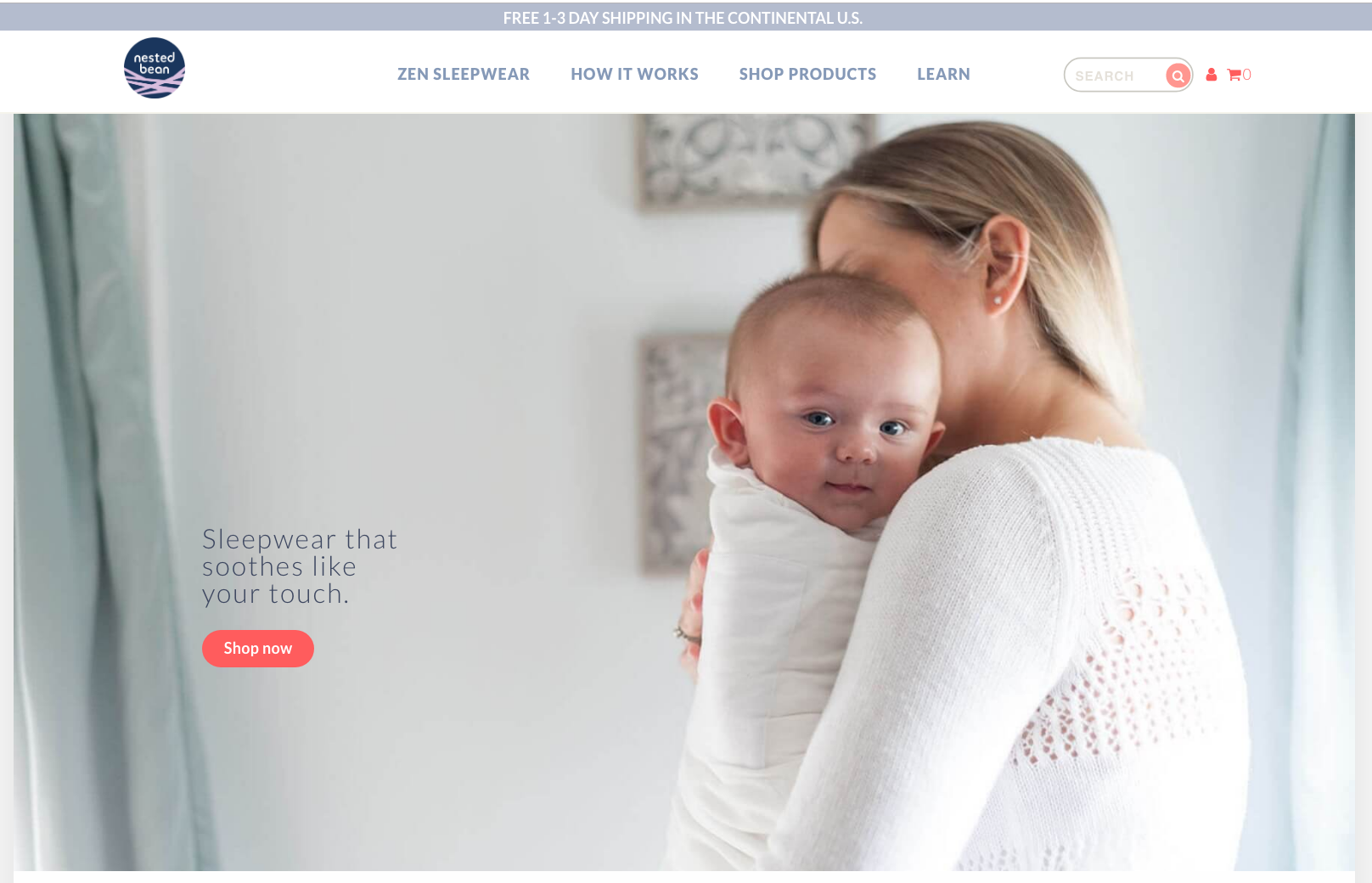Nested Bean Soothes Sleepless Babies (and Parents) With a New, Easier-to-Use Shopify Site