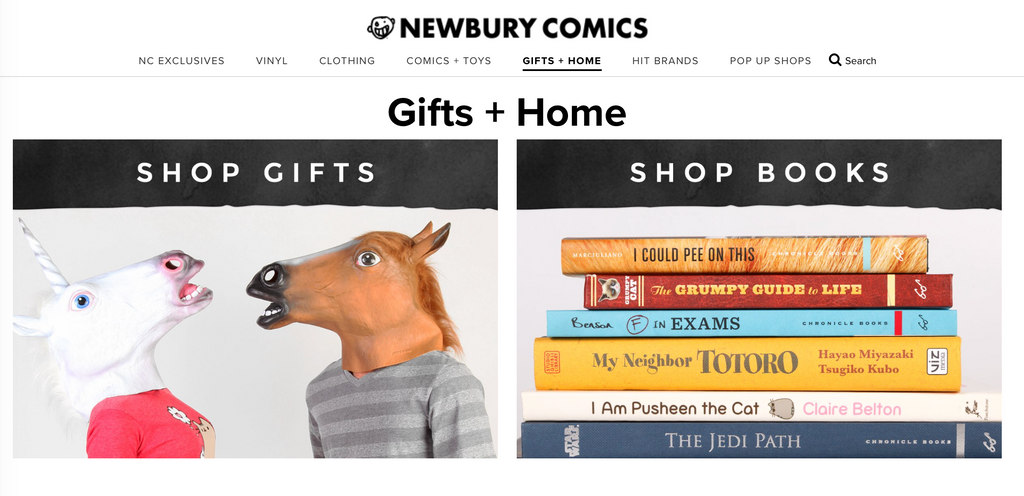 Newbury Comics website accessibility color contrast