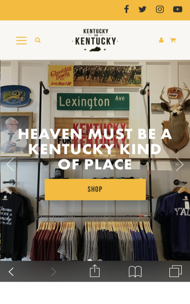 Kentucky for Kentucky new Shopify mobile UX