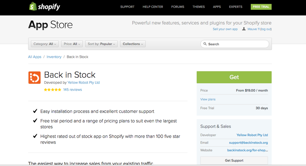 How To: Add Back In Stock Notifications to Shopify – Growth