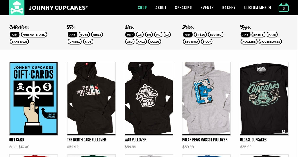 Johnny Cupcakes Collection Screenshot
