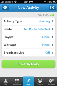 Runkeeper Application (native)