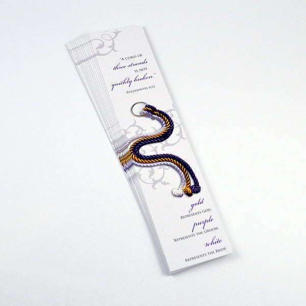 Cord of Three Strands Bookmarks - Pack of 20