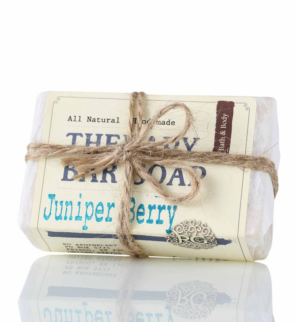 Therapy Bar Soap - Juniper Berry - Rose Rey - by RG Apothecary