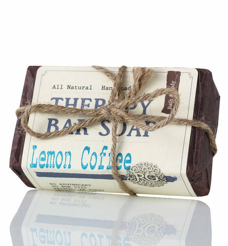 Therapy Bar Soap - Lemon Coffee - Rose Rey - by RG Apothecary