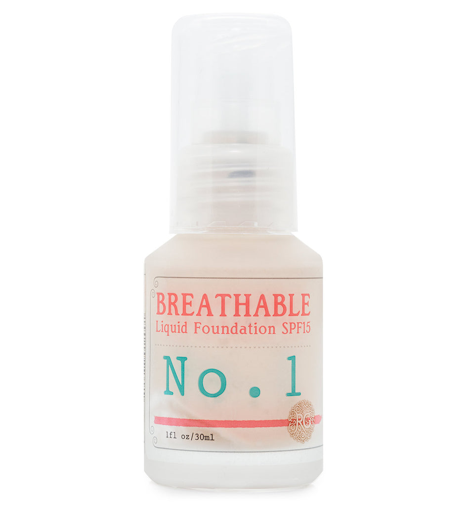 BREATHABLE Liquid Foundation No. 1 - SPF15 - Rose Rey - by RG Apothecary