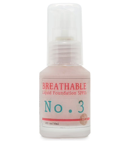BREATHABLE Liquid Foundation No. 3 - SPF15 - Rose Rey - by RG Apothecary