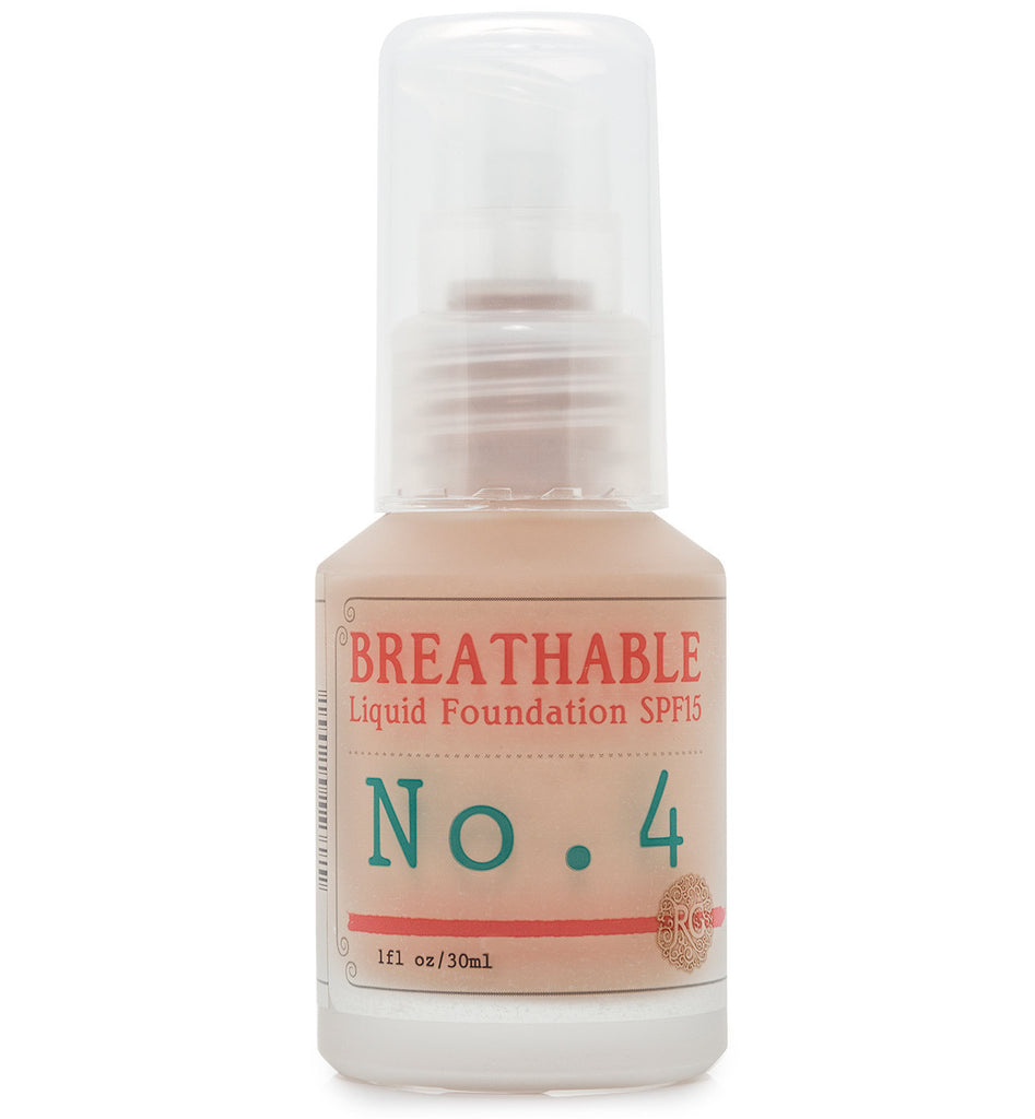 BREATHABLE Liquid Foundation No. 4 - SPF15 - Rose Rey - by RG Apothecary