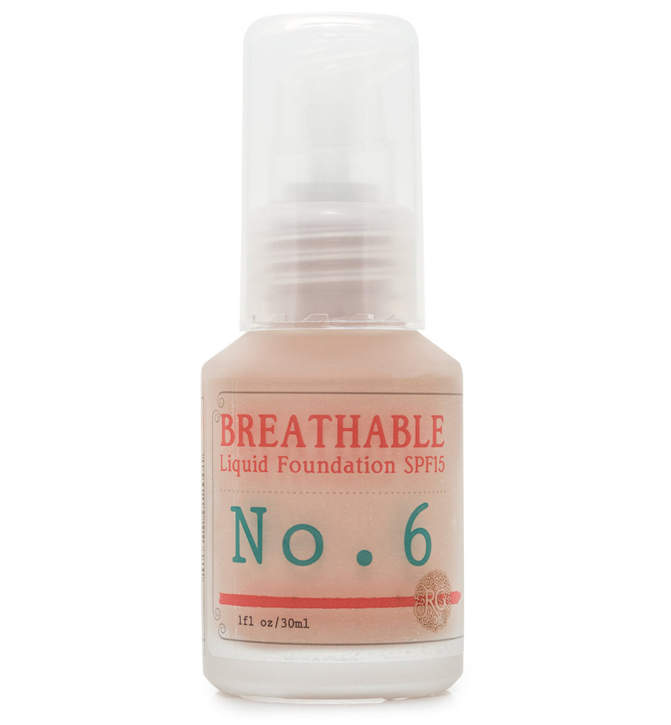 BREATHABLE Liquid Foundation No. 6 - SPF15 - Rose Rey - by RG Apothecary