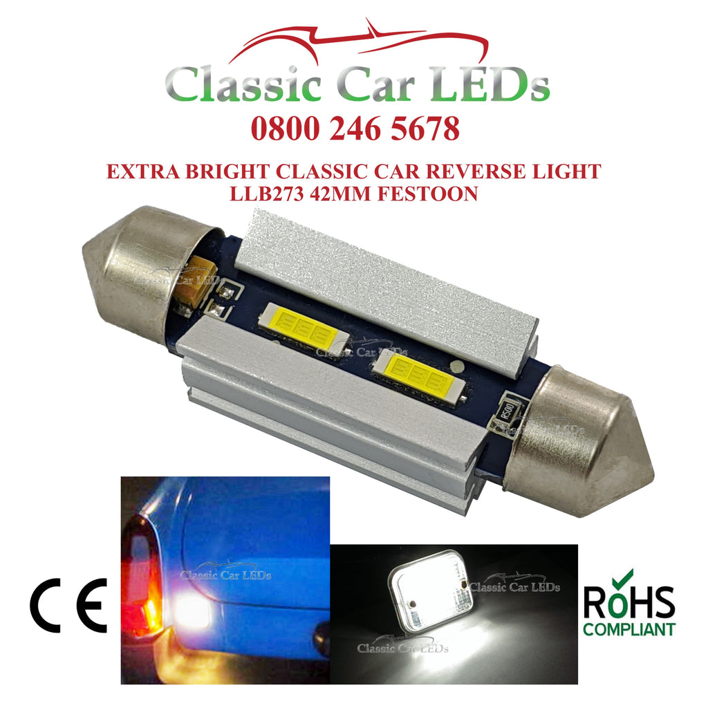 HIGH POWER CLASSIC CAR LED REVERSING LIGHT BULB GLB273 MGB MGC MIDGET ETC