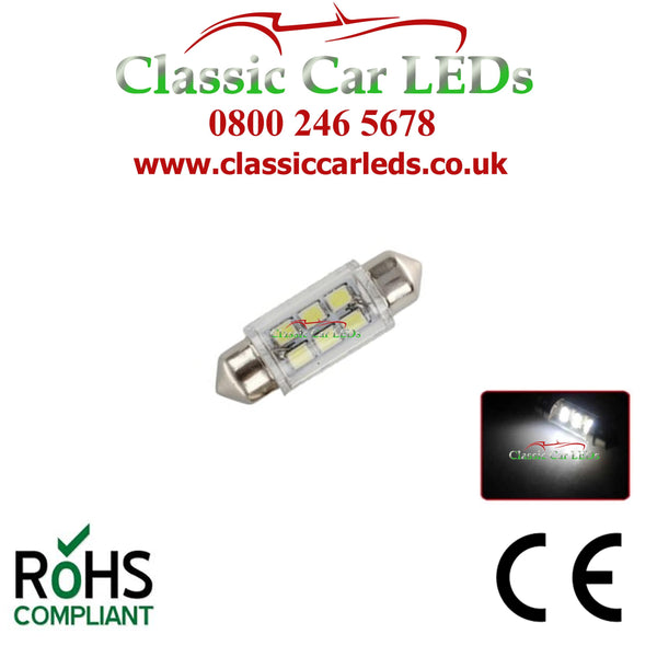 INTERIOR COURTESY  / NUMBER PLATE LED BULB GLB239 GLB254 C5W 35 - 37 MM 12 VOLT FESTOON