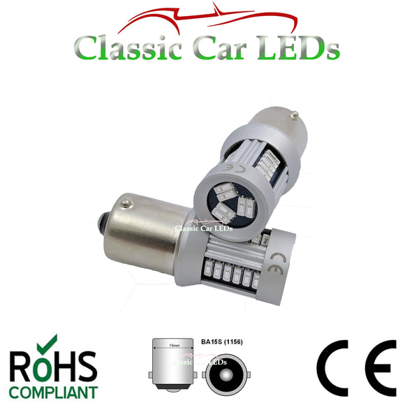 24V RED BA15S 21W LED GLB241 BULB CLASSIC COMMERCIAL VEHICLE P21W