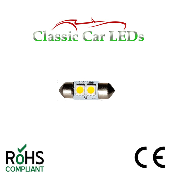 24 VOLT FESTOON LED BULBS 30 - 31 mm  Various Colours