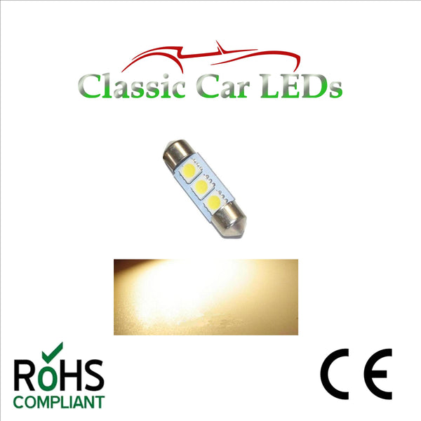 24 VOLT FESTOON LED BULBS 35 - 37 mm  Various Colours 274 653 242