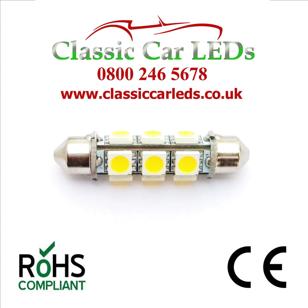24 VOLT 42MM WARM WHITE BARREL FESTOON LED BULB LLB277 LLB260