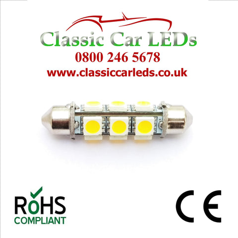 24 VOLT 42MM BRIGHT WHITE BARREL FESTOON LED BULB LLB277 LLB260