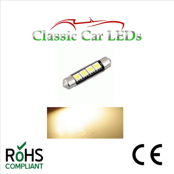 24 VOLT FESTOON LED BULBS 42 mm  Various Colours 260 GLB260 LLB260