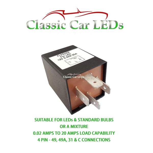 4 PIN ELECTRONIC FLASHER HAZARD RELAY LAND ROVER PORSCHE