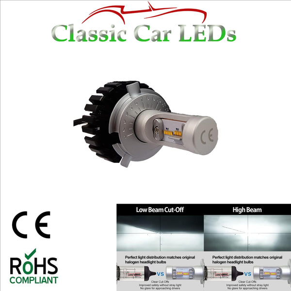 Latest LED Headlight H4 Motorcycle Hi/Lo Beam Conversion 9-32V
