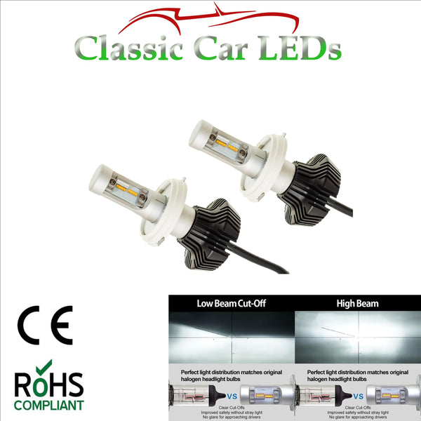 Pair of Latest LED Headlights P45T 410 Hi/Lo Beam Conversion 9-32V Excellent Beam Pattern
