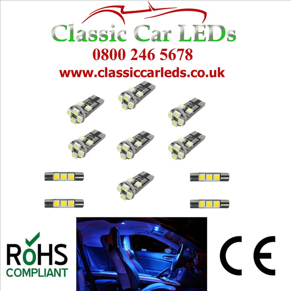 Vauxhall Astra J Interior Lighting 11 x LED Upgrade Kit - Various Colour Options