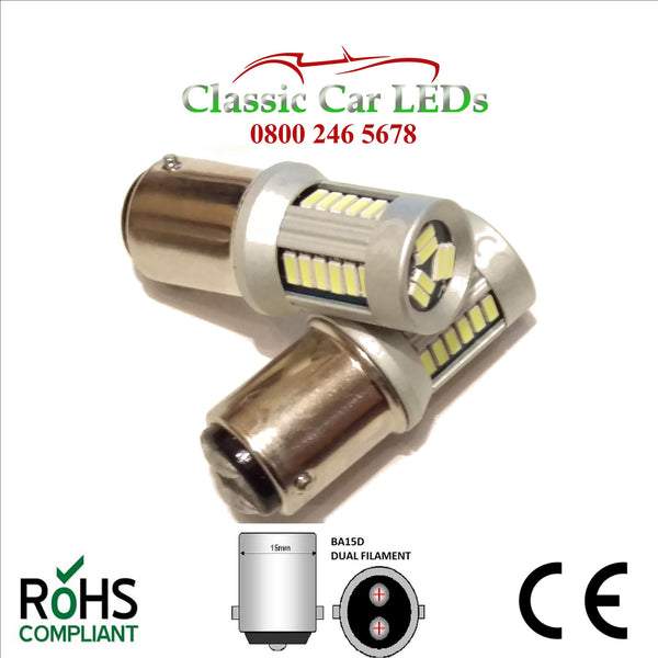 6 VOLT BA15D DUAL FILAMENT STOP TAIL SIDE INDICATOR LED BULB P21/5W LLB381