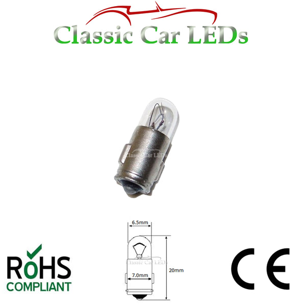 BA7S 281 MCC INCANDESCENT DASHBOARD WARNING SWITCH BULB