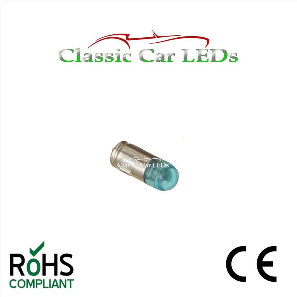 6V 6 VOLT BA7S BLUE NEGATIVE EARTH / GROUND LED BULB CLASSIC CAR MOTORCYLE GLB282