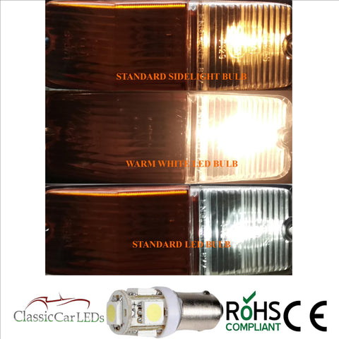 2X 24V BA9S WARM WHITE CLASSIC COMMERCIAL VEHICLE LED BULB 249 227 651 865 867 NO POLARITY