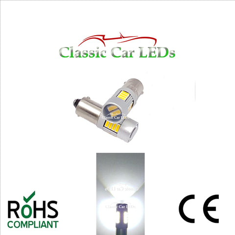 24V BA9S BRIGHT WHITE CLASSIC COMMERCIAL VEHICLE LED BULB 249 227 651 865 867 NO POLARITY