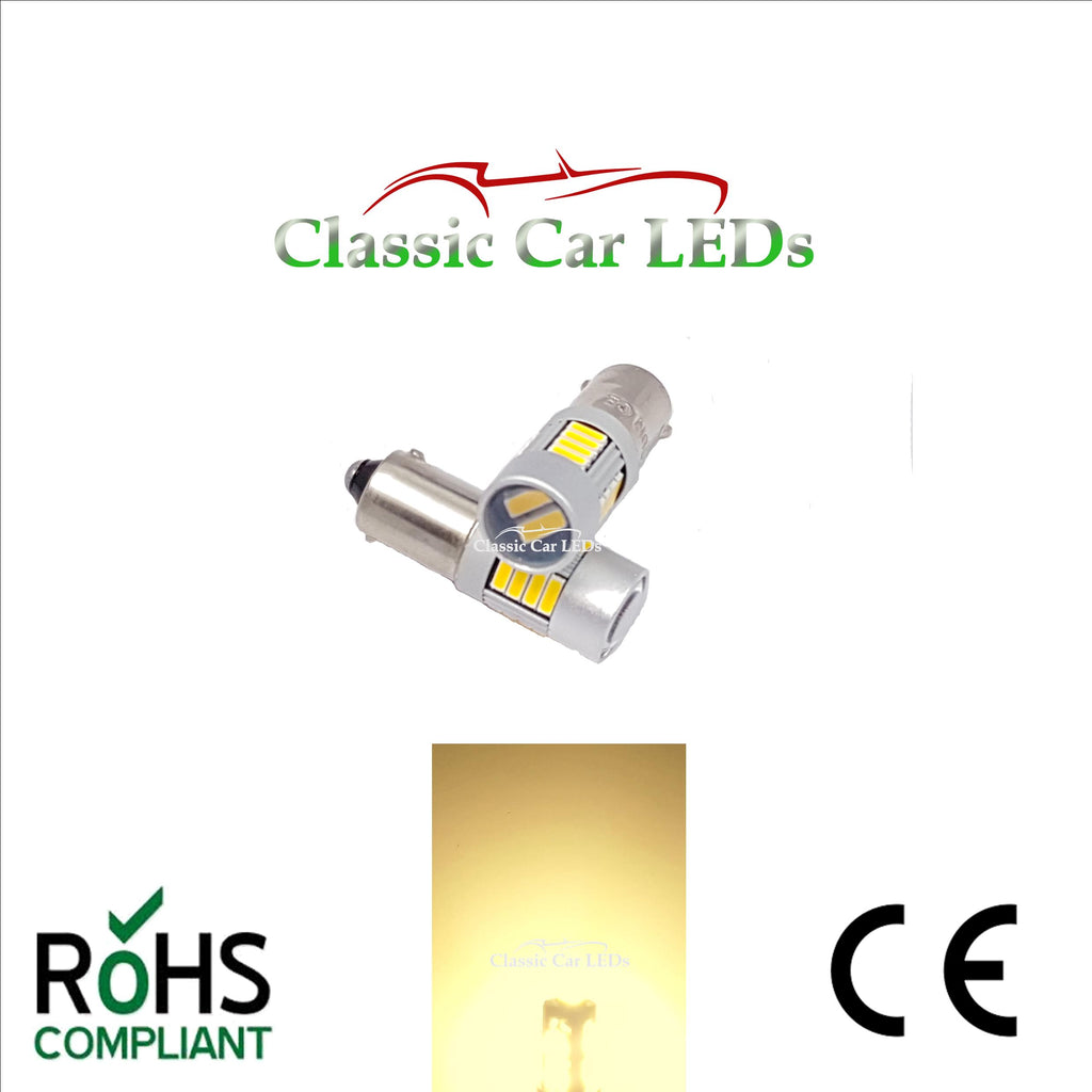 WARM WHITE BA9S ERROR FREE CANBUS T4W 233 989 LED SIDE LIGHT UPGRADE BULB