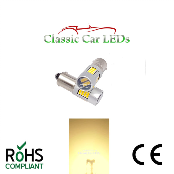 24V BA9S BRIGHT WARM WHITE CLASSIC COMMERCIAL VEHICLE LED BULB 249 227 651 865 867 NO POLARITY