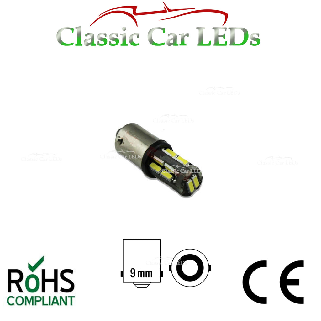 BA9S BRIGHT WHITE 200 LUMEN T4W 233 LED SIDELIGHT UPGRADE BULB LLB233 LLB989