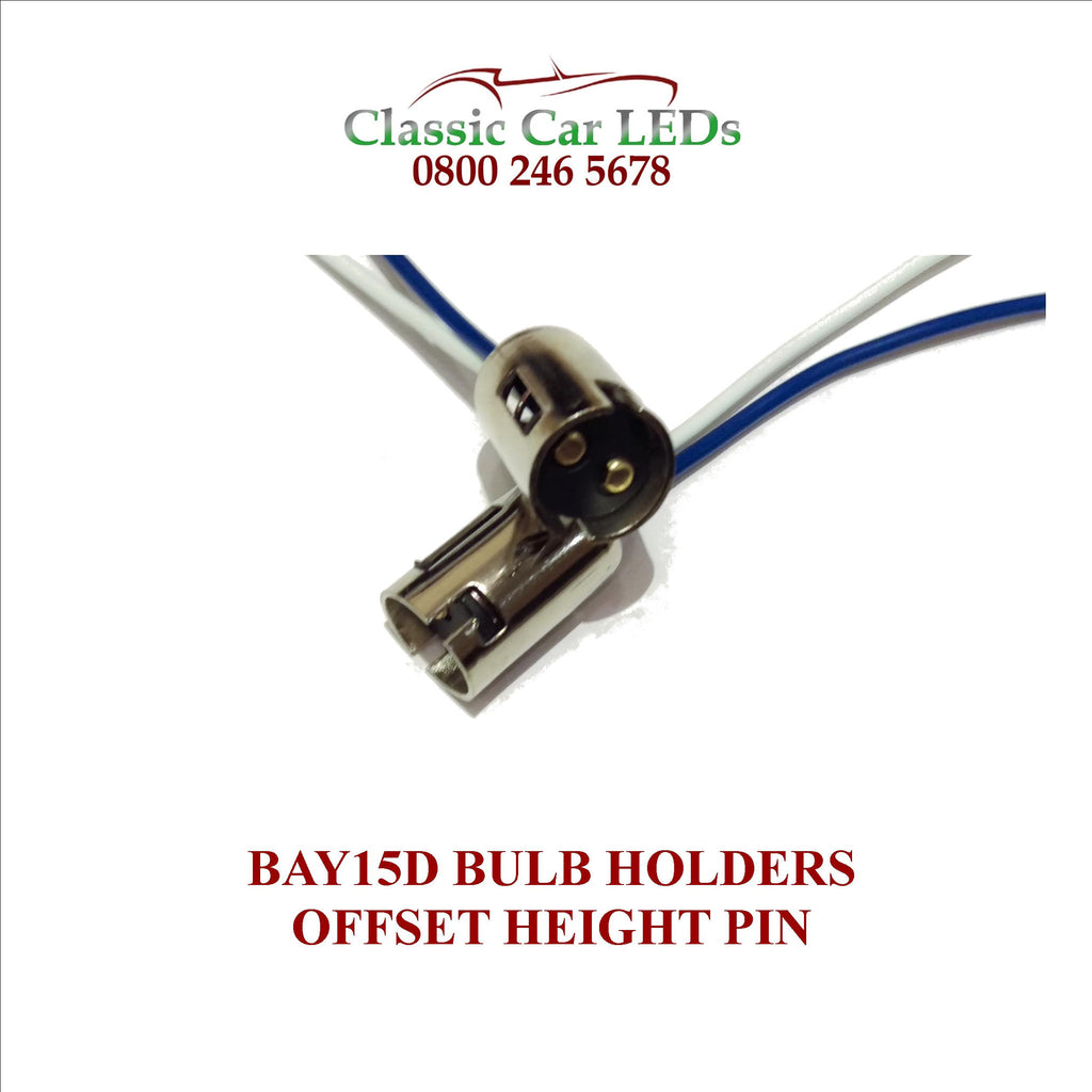 BAY15D BULB HOLDER DUAL CONTACT OFFSET PIN STOP TAIL BRAKELIGHT GLB380 LLB380