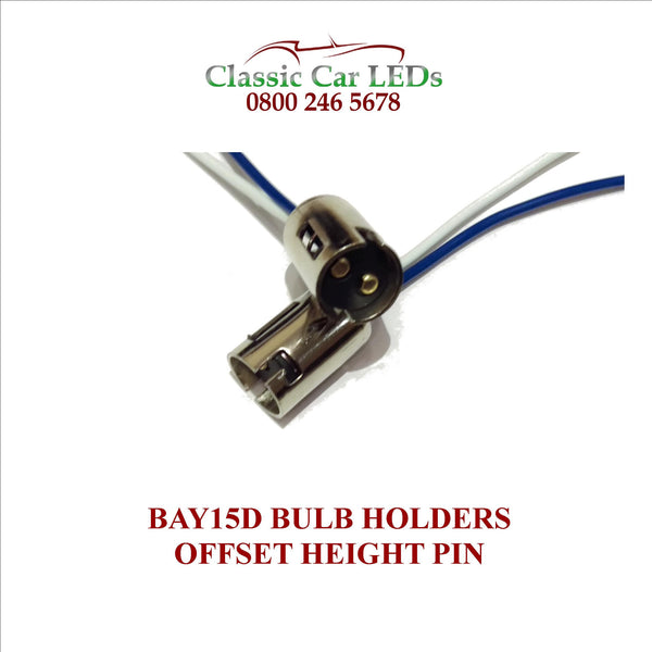 Bay15d Bulb Holder Dual Contact Offset Pin Stop Tail