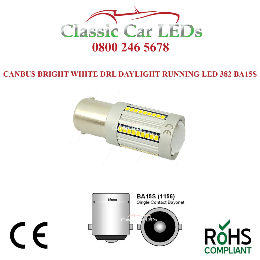 Strong Canbus DRL Daylight Running Light White LED 1156 P21W 382
