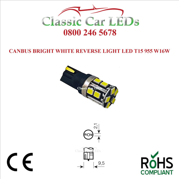W16W T15 955 921 CANBUS LED ERROR FREE REVERSE BACK UP LIGHT