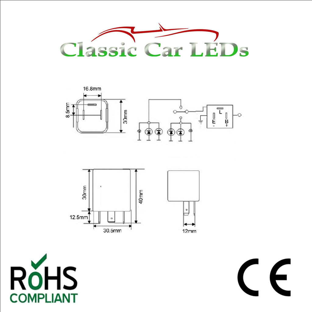 12v Electronic Indicator Flasher Relay With Oe Clicking Sound Ep35 Quality 12 Volt