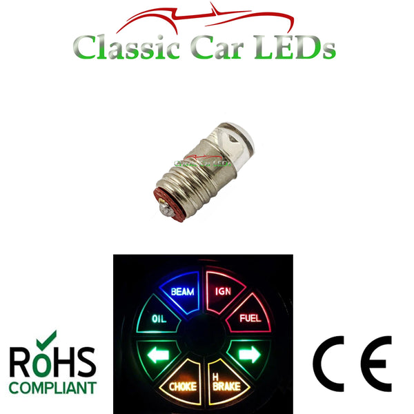 Set of 8 Triumph Warning Cluster LED Bulbs GLB280 E5 LES Lilliput 280