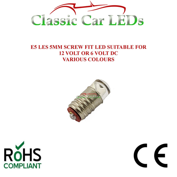 GLB280 E5 LES Lilliput LED Bulbs 280 - Various Colours