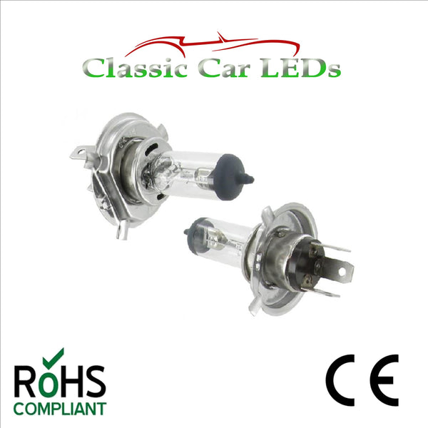 2 x 6 VOLT 60/55W P43T H4 BOSCH CARGO HALOGEN CAR MOTORCYCLE HEADLIGHT 6V