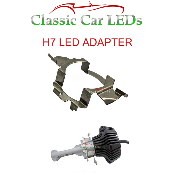 1x H7 LED Headlight Bulb Adapter Holder Audi BMW Mercedes-Benz Skoda VW Nissan Vauxhall