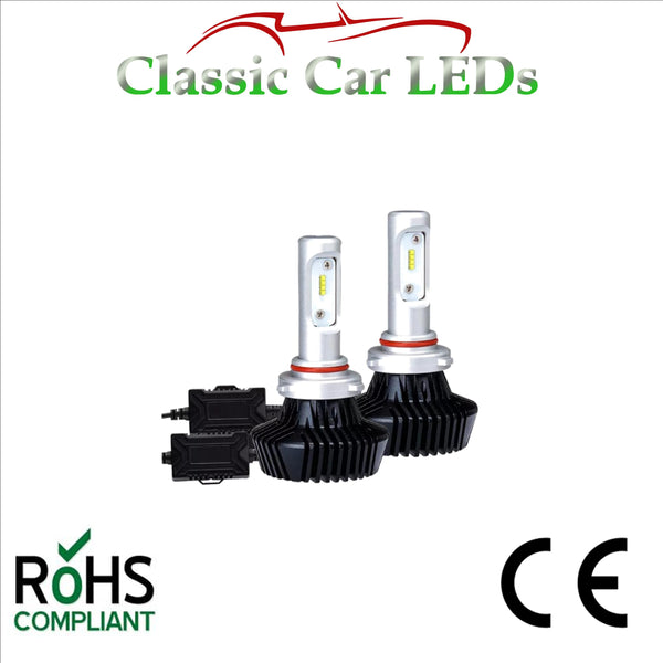 Pair of LED Headlight Conversion Bulbs HB3 HB4 4600 Lumen Main Dipped P20D P22D