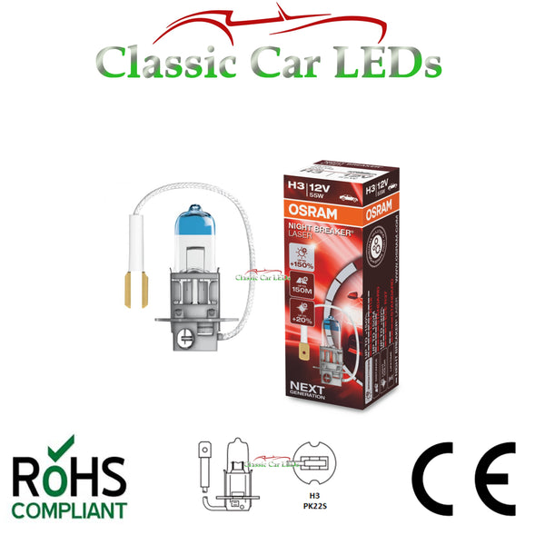 Osram H3 453 PK22S 55W Night Breaker LASER Upgrade Foglight Fog Bulb