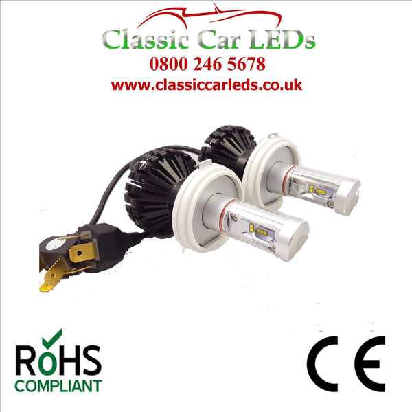 Pair of LED Headlights P45T Fully Integrated with colour options Hi/Lo Beam Conversion