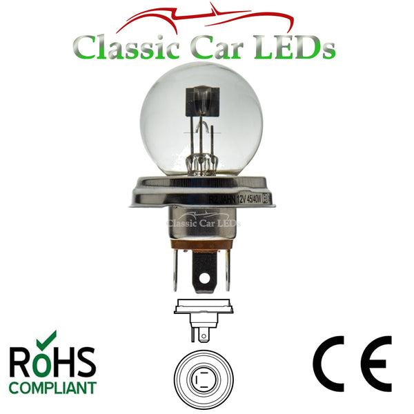 BILUX 12V P45T R2 45/40W TRADITIONAL 410 HI/LO BEAM HEADLIGHT LAMP BULB CLASSIC